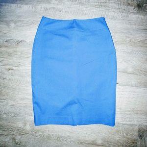 Tahari blue pencil skirt 4